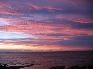 Dunbar sea and sky at 11pm in June