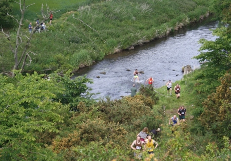 Runners in the River Tyne