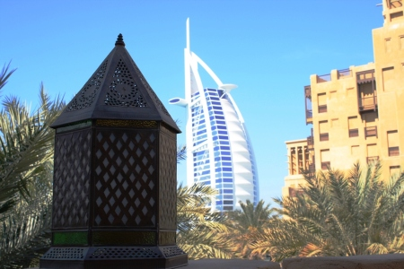 Dubai lantern and Burj Al Arab