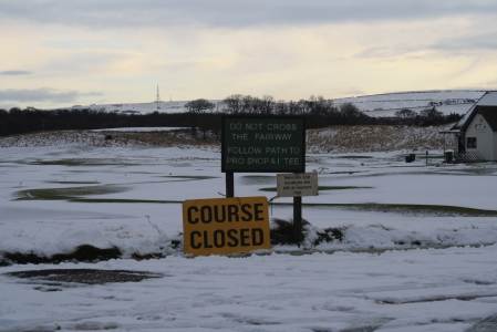 Course closed - no round of golf today! (Dunbar)