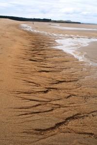 Jagged patterns on Belhaven beach
