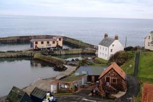 St Abbs Head harbour in winter