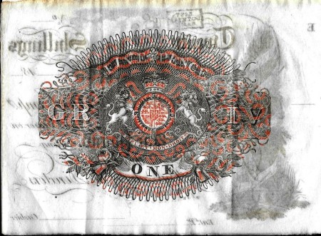 East Lothian Banking Company One Pound Back